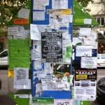 """Arte Urbano Casual: """"Collage publicitario en mobiliario urbano"""""""