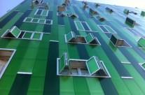 Edificios singulares de viviendas en el Ensanche de Vallecas, Madrid